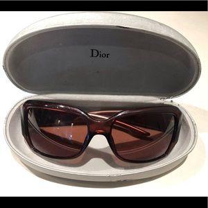 Dior sunglasses with Swarovski crystal logo